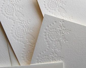 Eyelet lace, letterpress card set