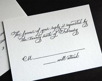 Olivia - Custom Calligraphy and Letterpress Invitation