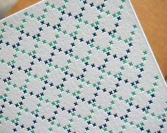 Loop - Letterpress cross stitch card