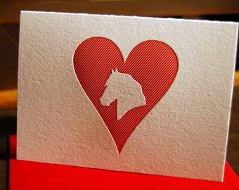 Heart: Horse, letterpress card