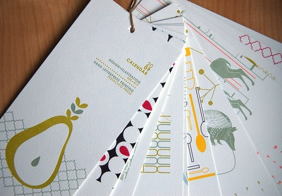 2009 Letterpress Wall Calendar Collaboration