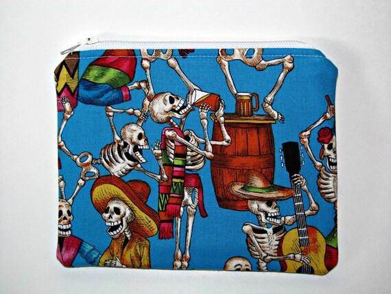 Fiesta de los Muertos Zipper Pouch - Alexander Henry