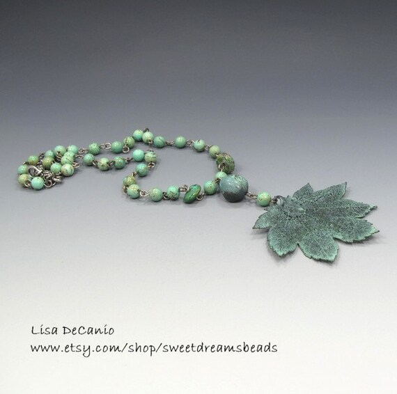Patina Maple with Turquoise NATURE Necklace