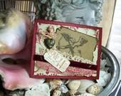 Valentine Card, Vintage Inspired, Cupid, Heart