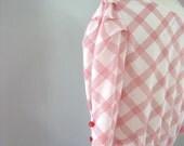 Vintage 80s PICNIC Ruffled PEPLUM Dress (S)
