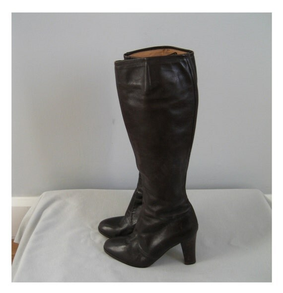 1940s vintage italian leather knee high boots 6