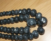 Larvikite Graduated Rondelle Beads - 15 inch strands - labradorite and spectrolite family of stones