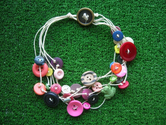 Necklace - Green frog