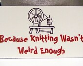 "Spinning Magnet--""Because Knitting Wasn't Weird Enough"""