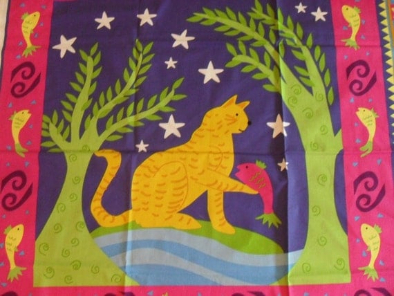 fabric panel by Susan Sargent - Cat Fish