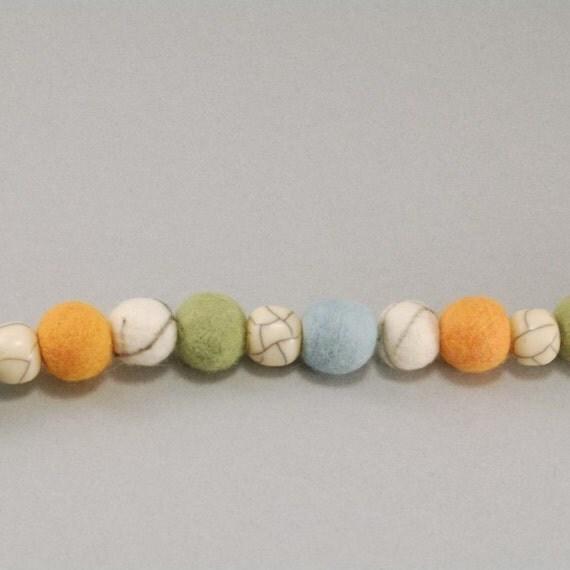 Stone and Felt Necklace