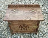 Wiccan Ritual Cabinet Altar Solid Oak Butcherblock