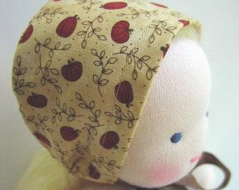 Waldorf dolls, 10 - 12 inch, Waldorf doll clothes , doll hat, Waldorf toys, fall hat, doll bonnet, handmade dolls