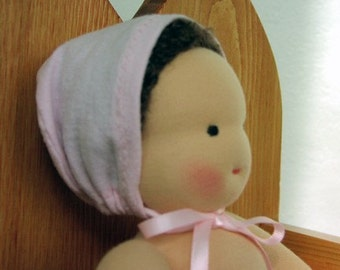 Waldorf doll clothes, 12 inch doll clothes, Doll Bonnet, doll Bloomers, for natural Dolls, cloth dolls, handmade dolls