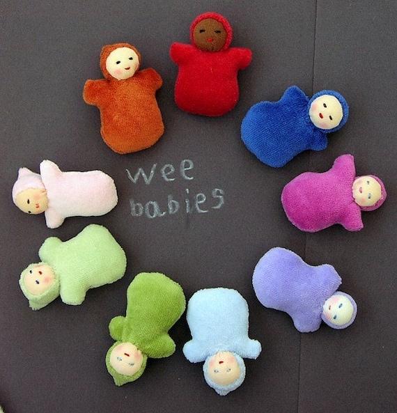 Custom Wee Pocket Baby, Waldorf doll