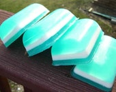 SALE --- RELAXING SCENTED TURQUOISE BLUE BAR SOAP - Great Gift