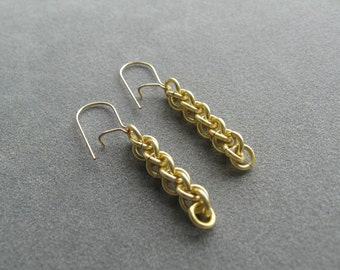 Gold EC Jens Pind Chainmaille Earrings