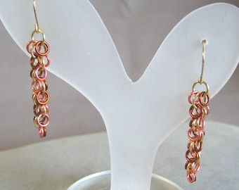 Autumn Glow Chainmaille Earrings