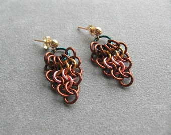 Falling Leaves Chainmaille Earrings