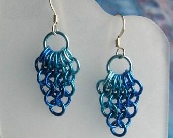 Blues Fan Chainmaille Earrings