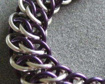 Deep Purple and Silver GSG Chainmaille Bracelet