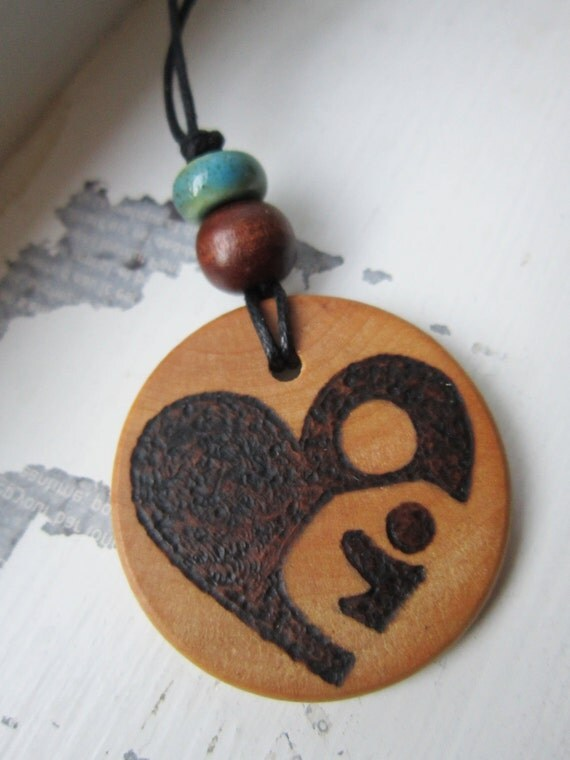 Custom-Drawn Nursing Necklace, breastfeeding LLL tandem nursing choose your cord color