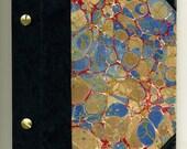 Antique Marbled Paper Photo Album, Scrapbook, or Unusual Journal