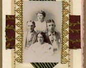 Vintage Family Photo ... Collage Greeting Card