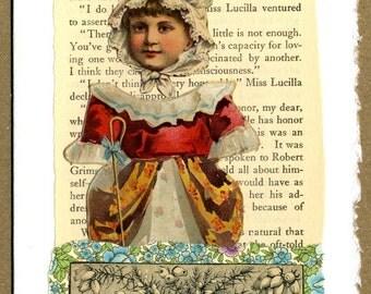 Bo Peep Collage Greeting Card