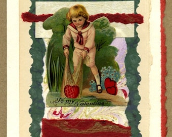 Answer Truly Frivolous Cupid Collage Card