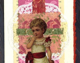 Collage Greeting Card Return of the Charm