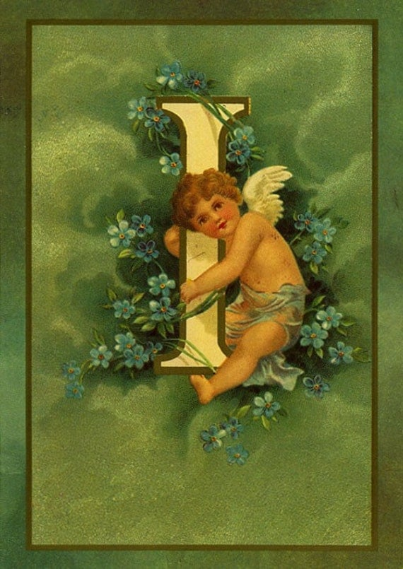 Cupids and Letters ... Set of 8 Vintage Postcards