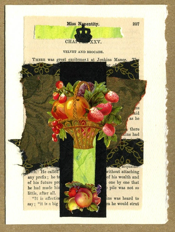 Great Excitement Fruit Collage Greeting Card