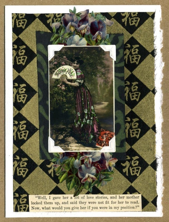 A Lot of Love Stories ... Collage Greeting Card