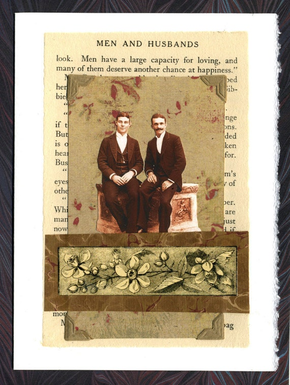 Men and Husbands Collage Greeting Card