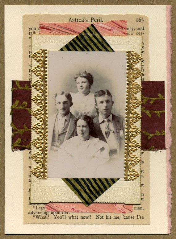 Vintage Family Photo Collage Greeting Card