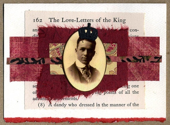 Love-Letters of the King ... Collage Greeting Card