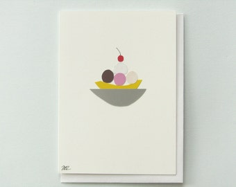Eat dessert first - papercut collage card