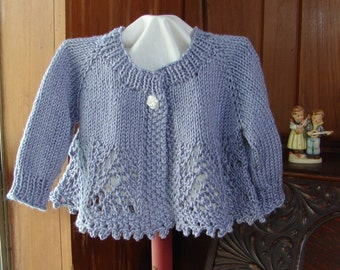 Pattern for Lacey Baby Girl Sweater