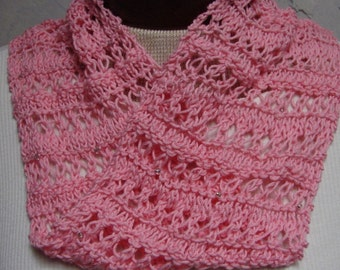 Pattern Knit Lace Scarf Neckwarmer Mobius Cowl Knitting Pattern