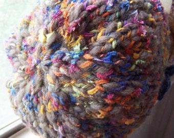Slouch Hat of Rainbows yarn
