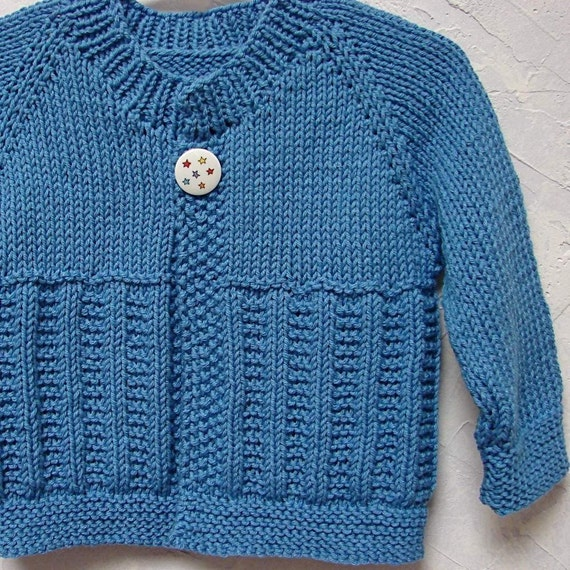 Pattern for Playtime Baby Sweater Top Down Boy Girl Sweater