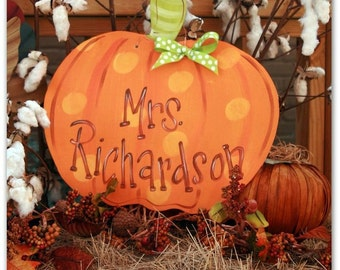 Personalized Door Decor, Pumpkin, Fall Decor, Fall, Holiday, Thanksgiving, Halloween
