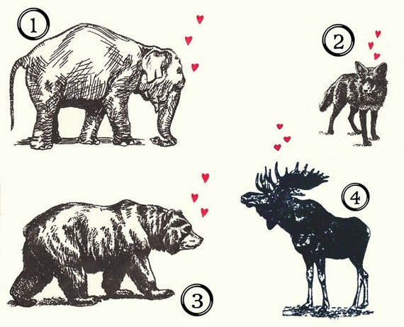 Animals in love mix pack gocco greeting cards