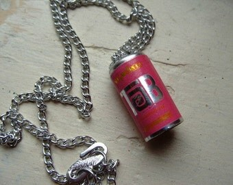 FREE SHIPPING Vintage Tab Pop Can Pendant and Chain Necklace