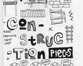 MINI ZINE by Anthony Woodward - 'CONSTRUCTION PIECES'