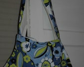Funky Green and Blue Floral Upcycled Boho Bag