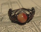 Simply Mine, Copper and Mookaite Ring, whimsy, reserved listing for jadestarII