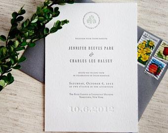 Signature Letterpress Wedding Invitation Samples
