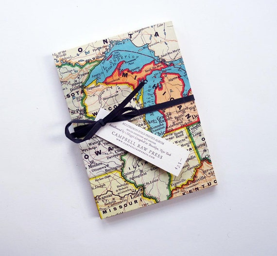 Midwest Map Accordion Fold Photo Album (5x7 inches)